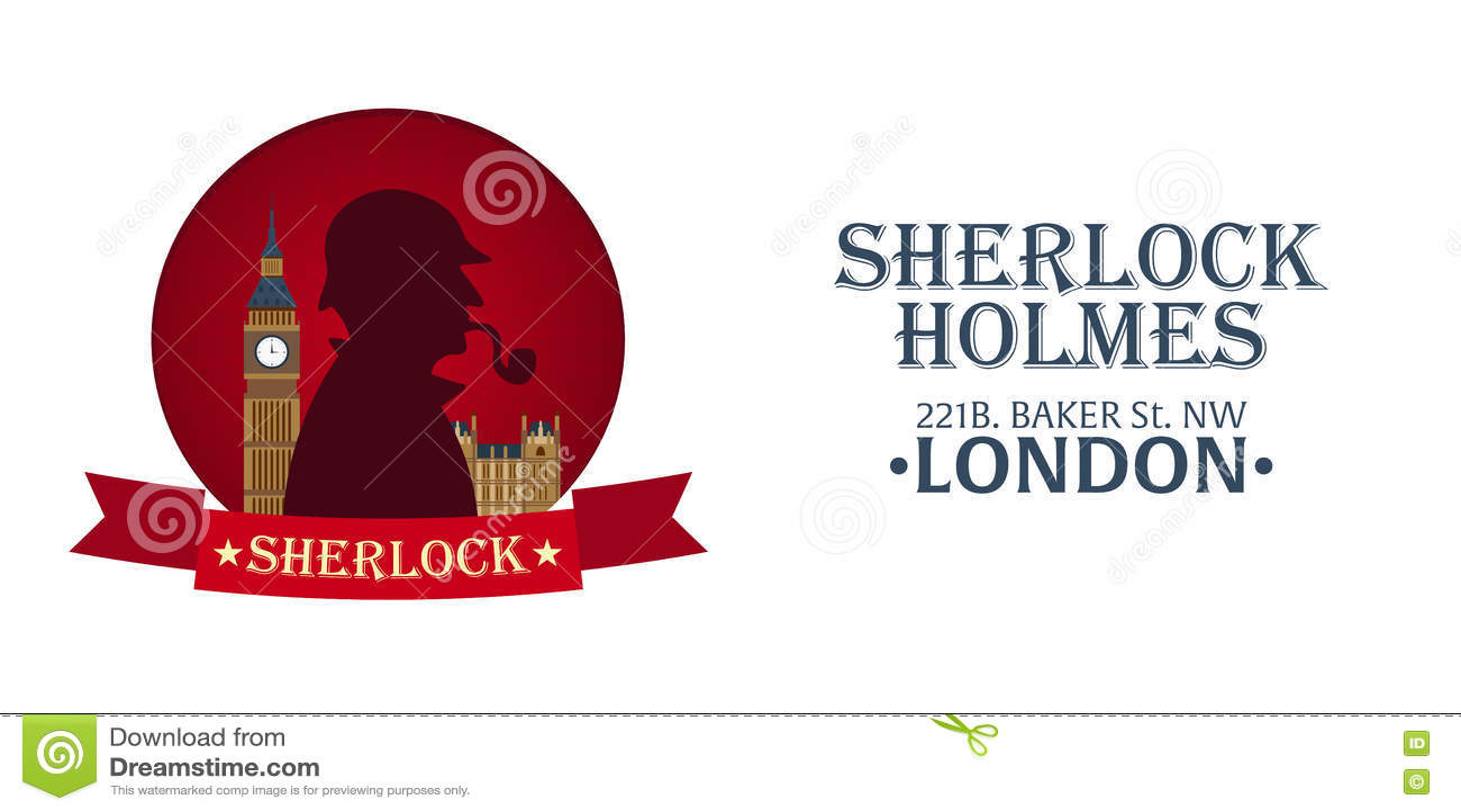 sherlock holmes plakat detektivillustration illustration mit sherlock holmes backerstrasse 221b london grosses verbot