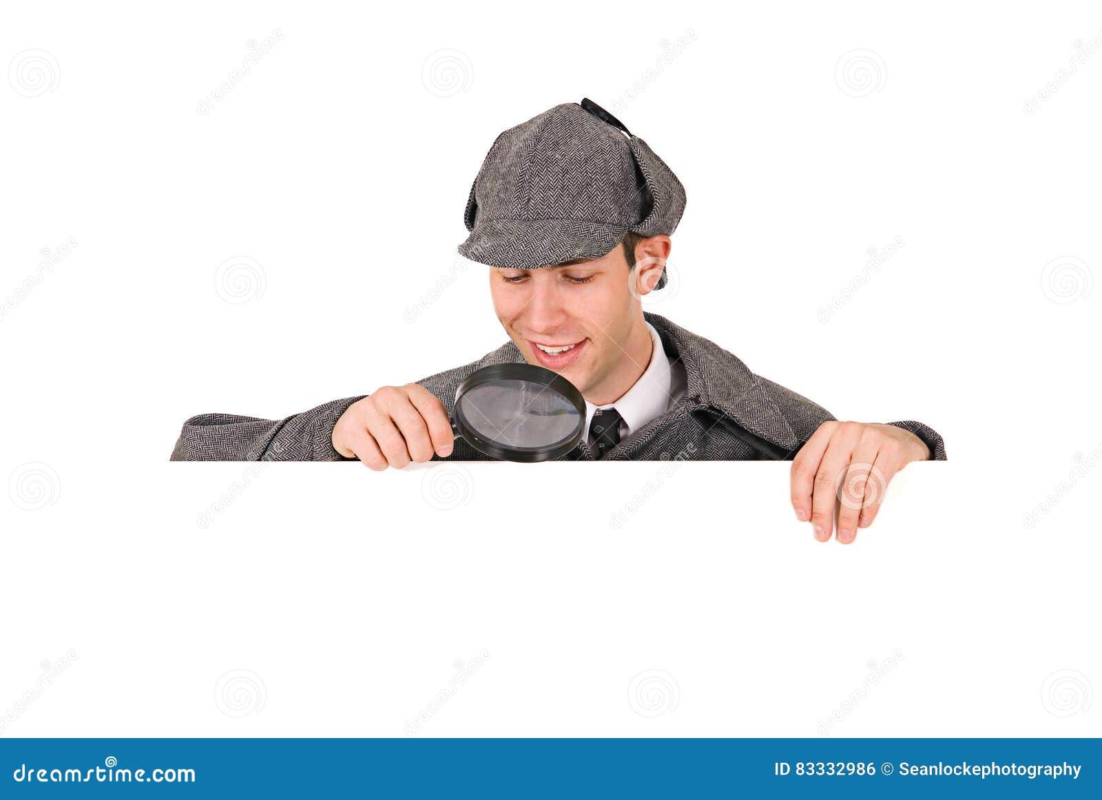 Sherlock: Vista para baixo em Whitespace com lente de aumento
