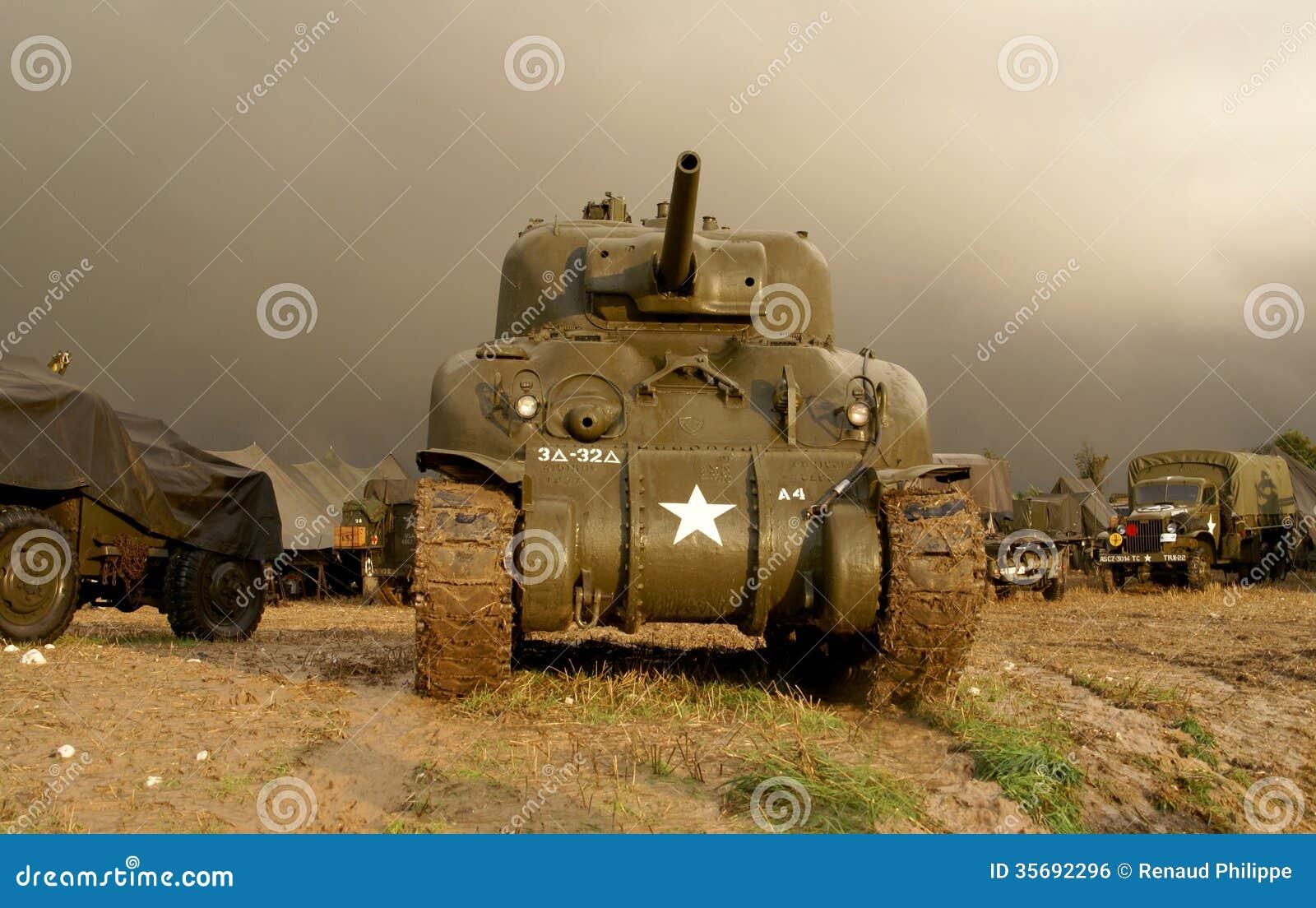 Sherman för världskrig två behållare