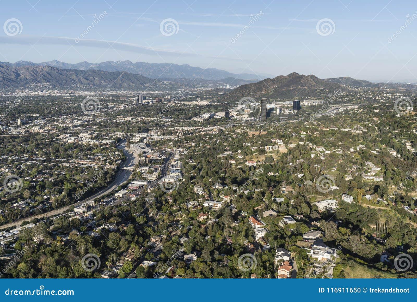 Sherman Oaks och studiostad flyg- Los Angeles Kalifornien