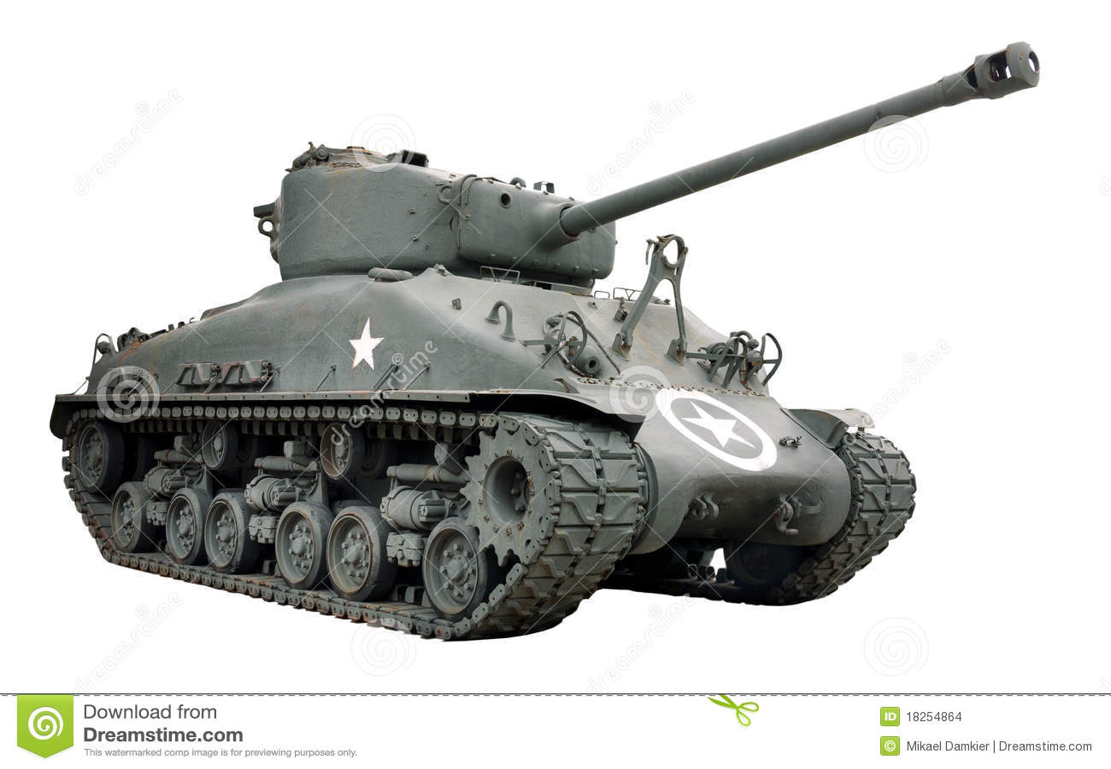 sherman tank stock images image 18254864