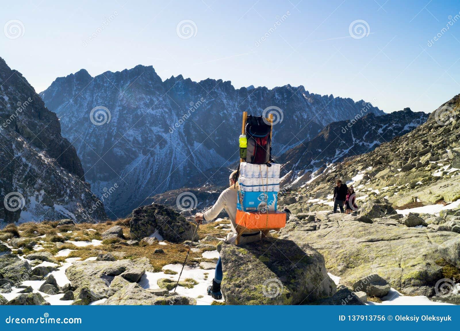 Sherpa Narodny πάρκο Tatransky tatry vysoke Σλοβακία