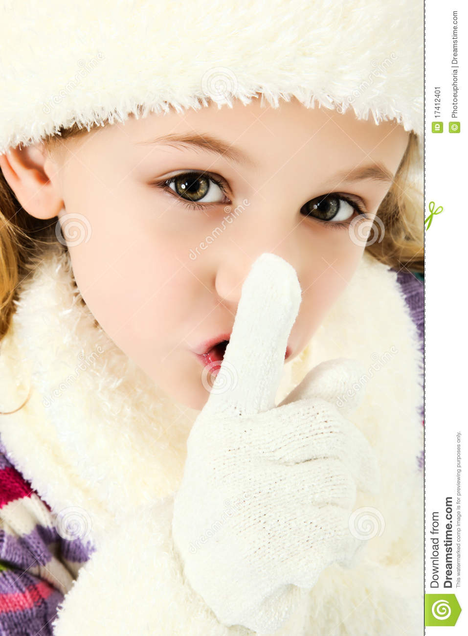 shhhhh quiet girl keeping secret stock image image of caucasian