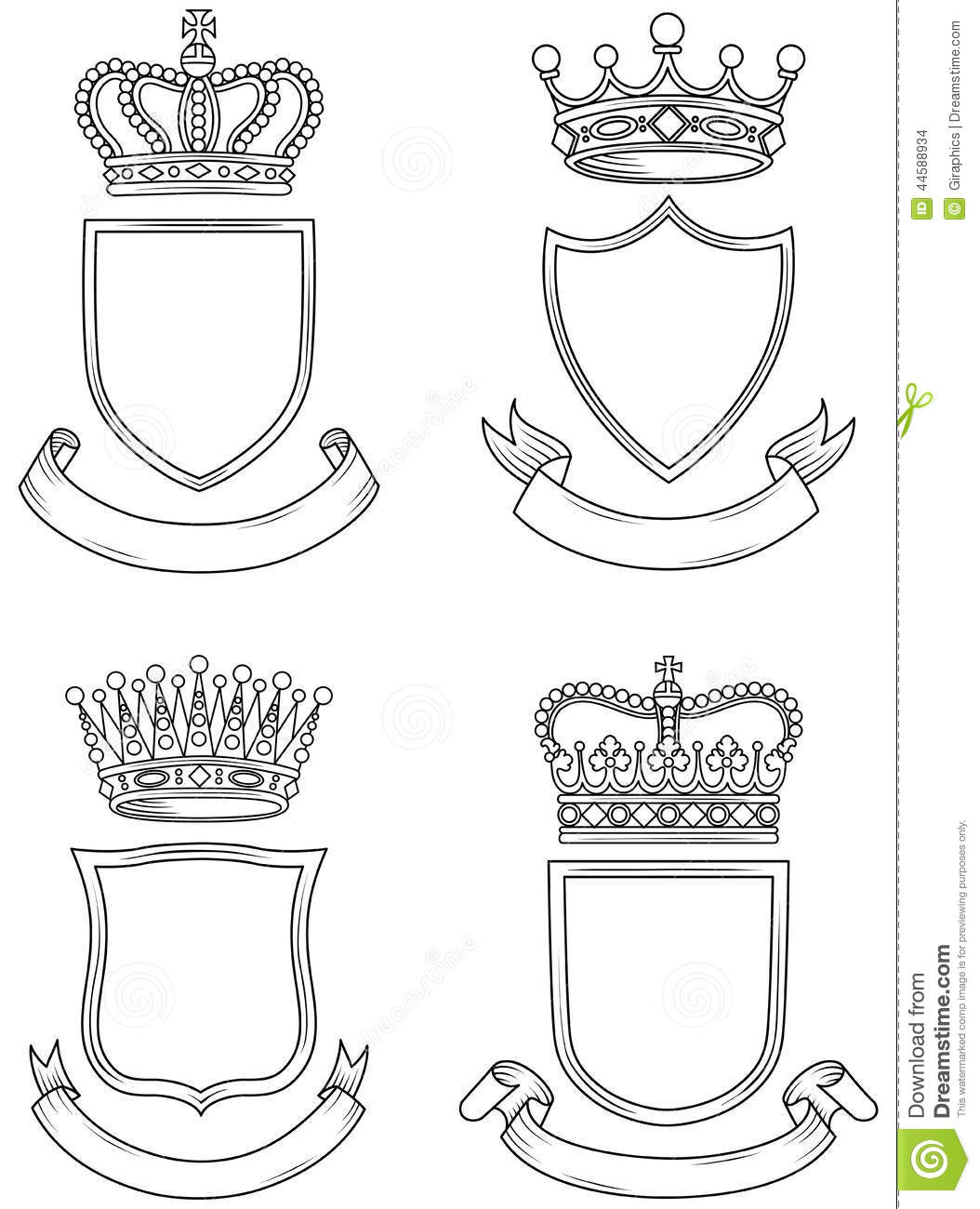 Free Coloring Pages Of Blank Coat Of Arms