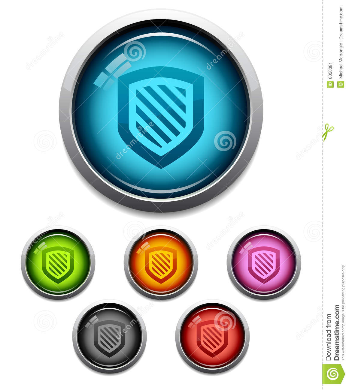 Shield button icon