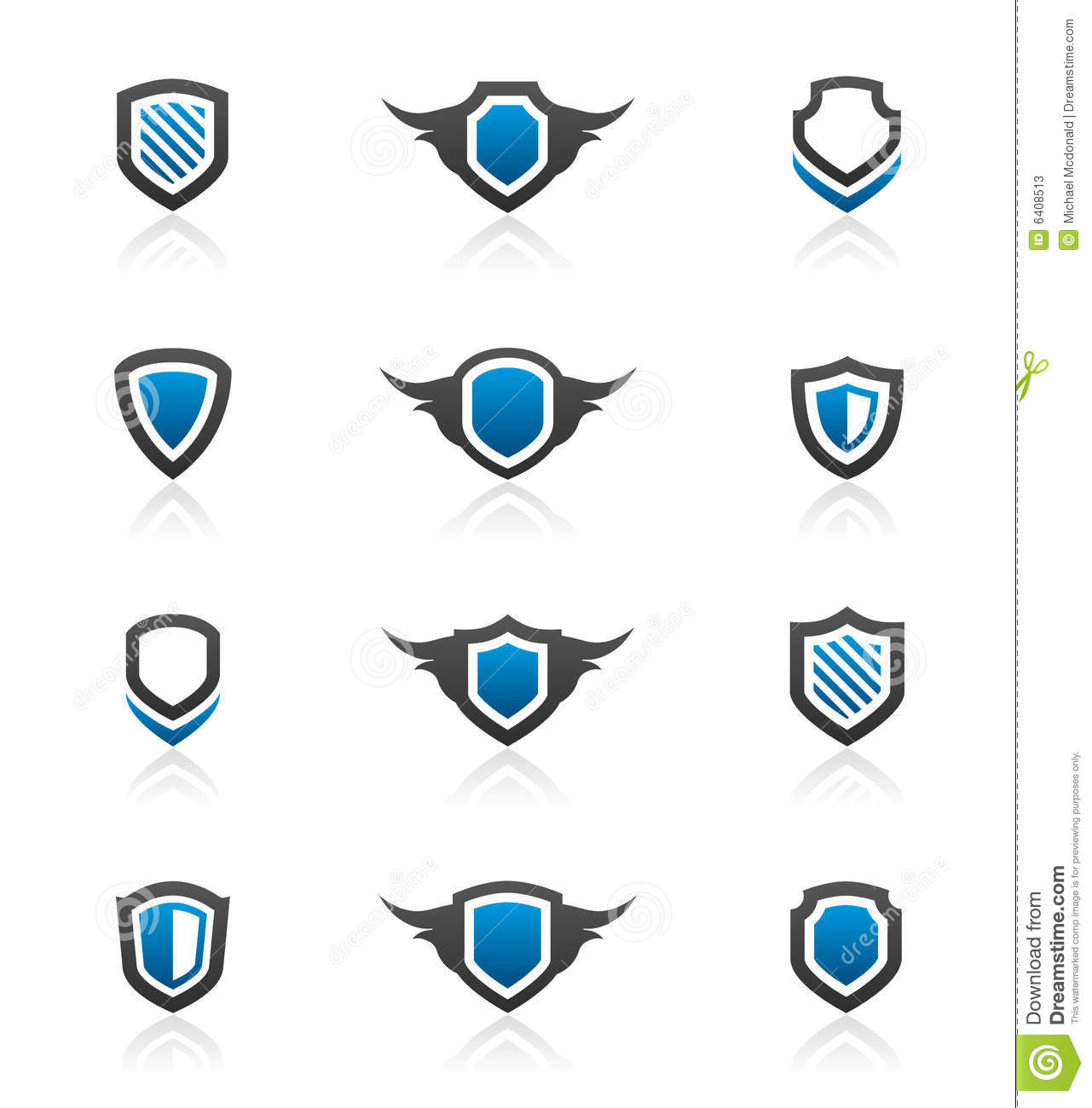 Shield design elements and graphics
