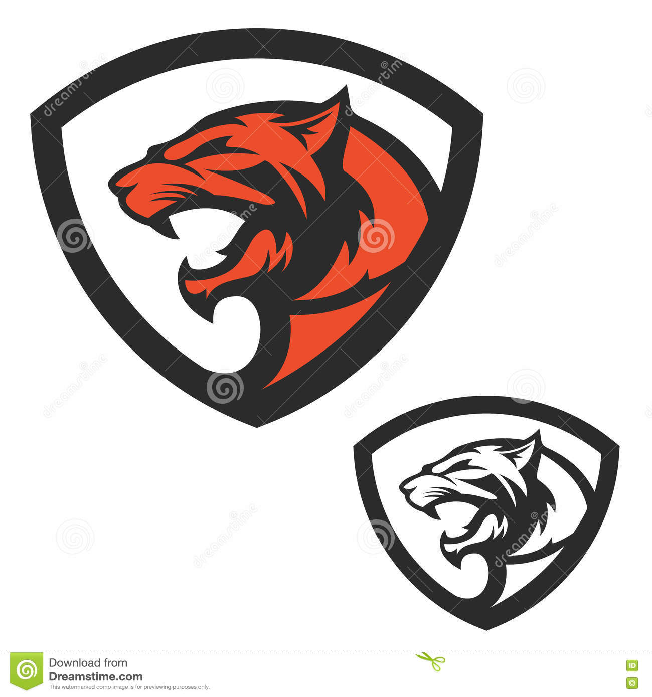 logo puma head in polygonal style cartoon vector free jaguar mascot clipart Cartoon Jaguar