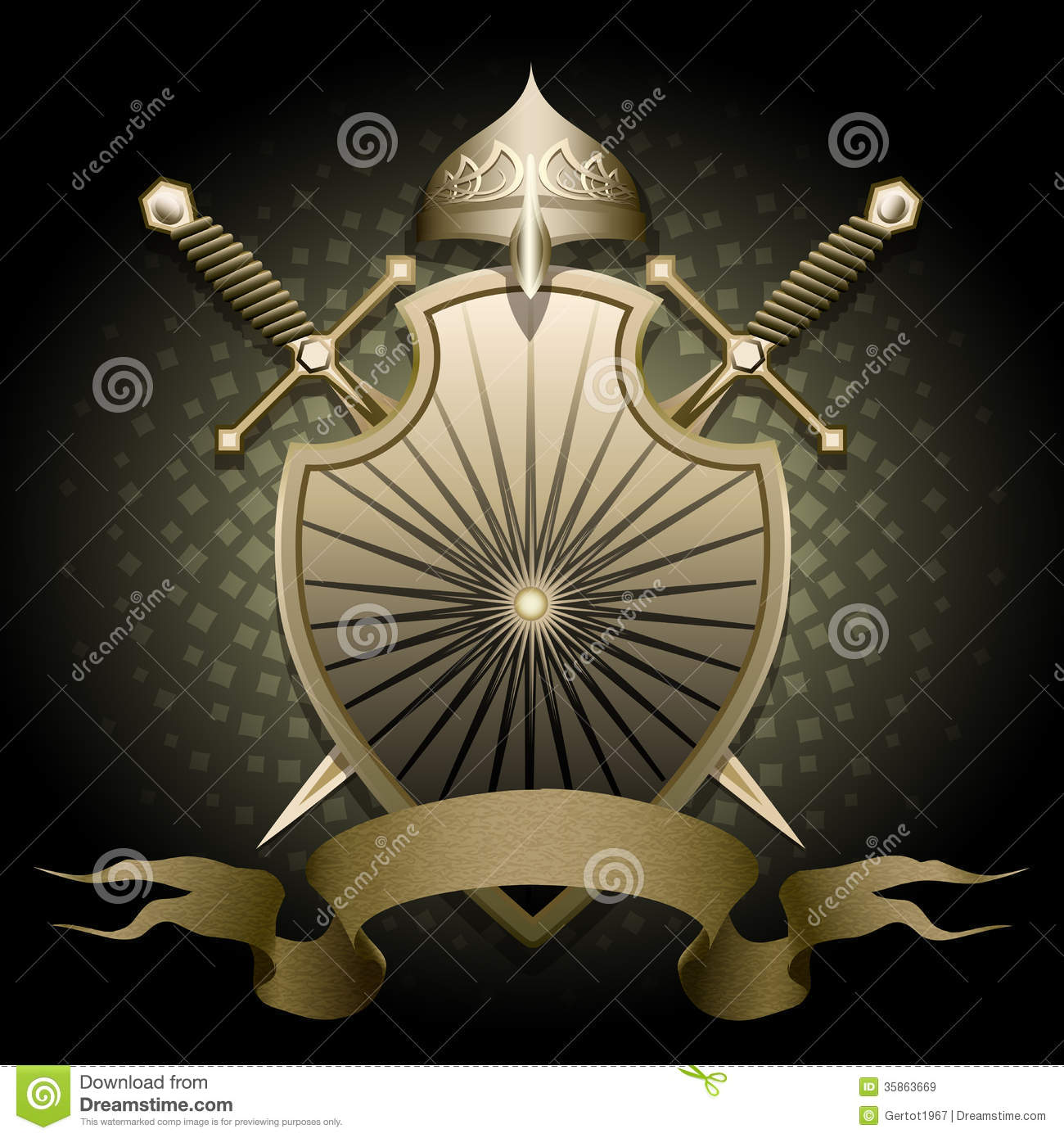 The Shield And Helmet Royalty Free Stock Images Image 35863669