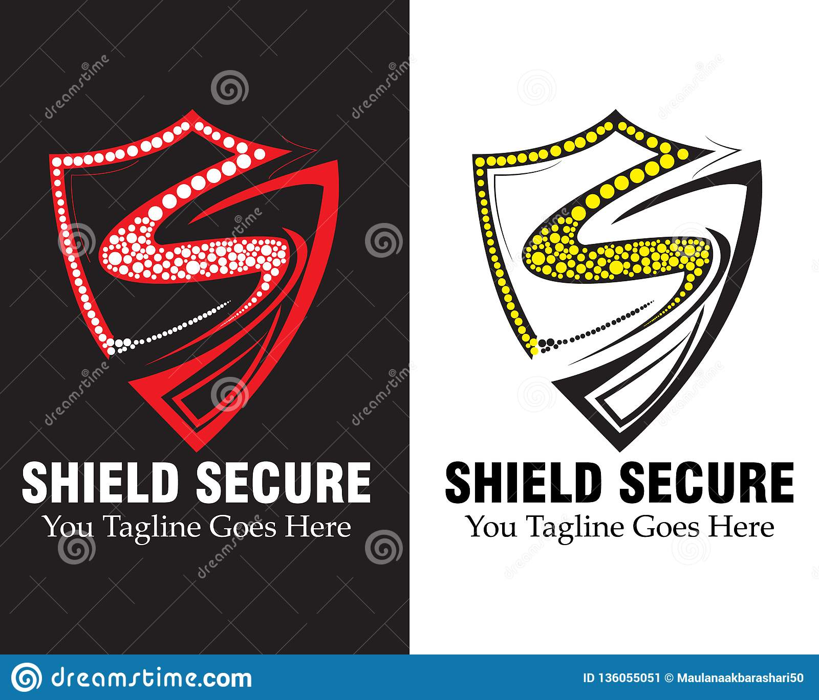 shield logo vector concept. with arm-shield. The letter s design from letter S form