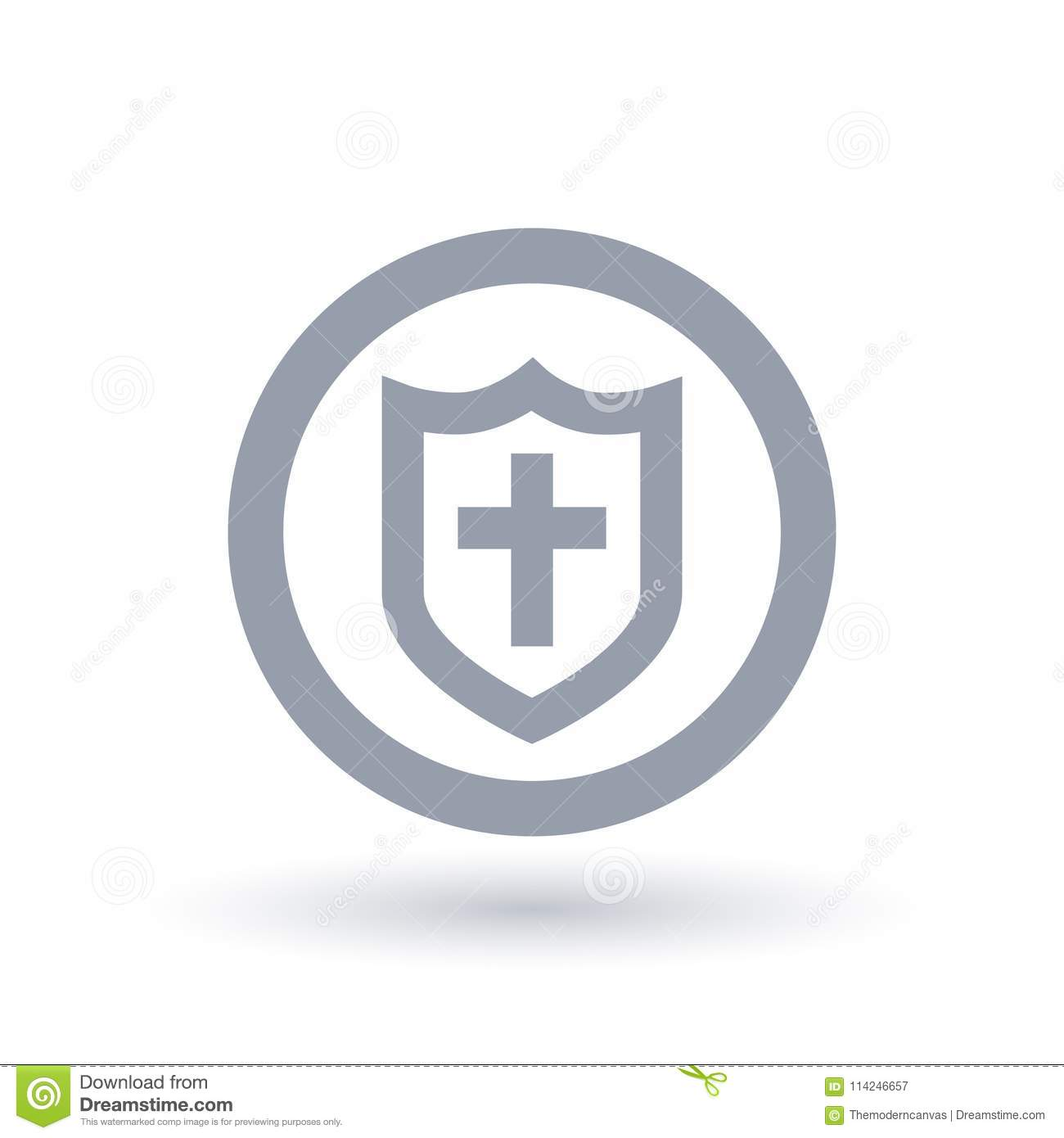 Shield Of Salvation Icon Armor Of God Symbol Stock Vector