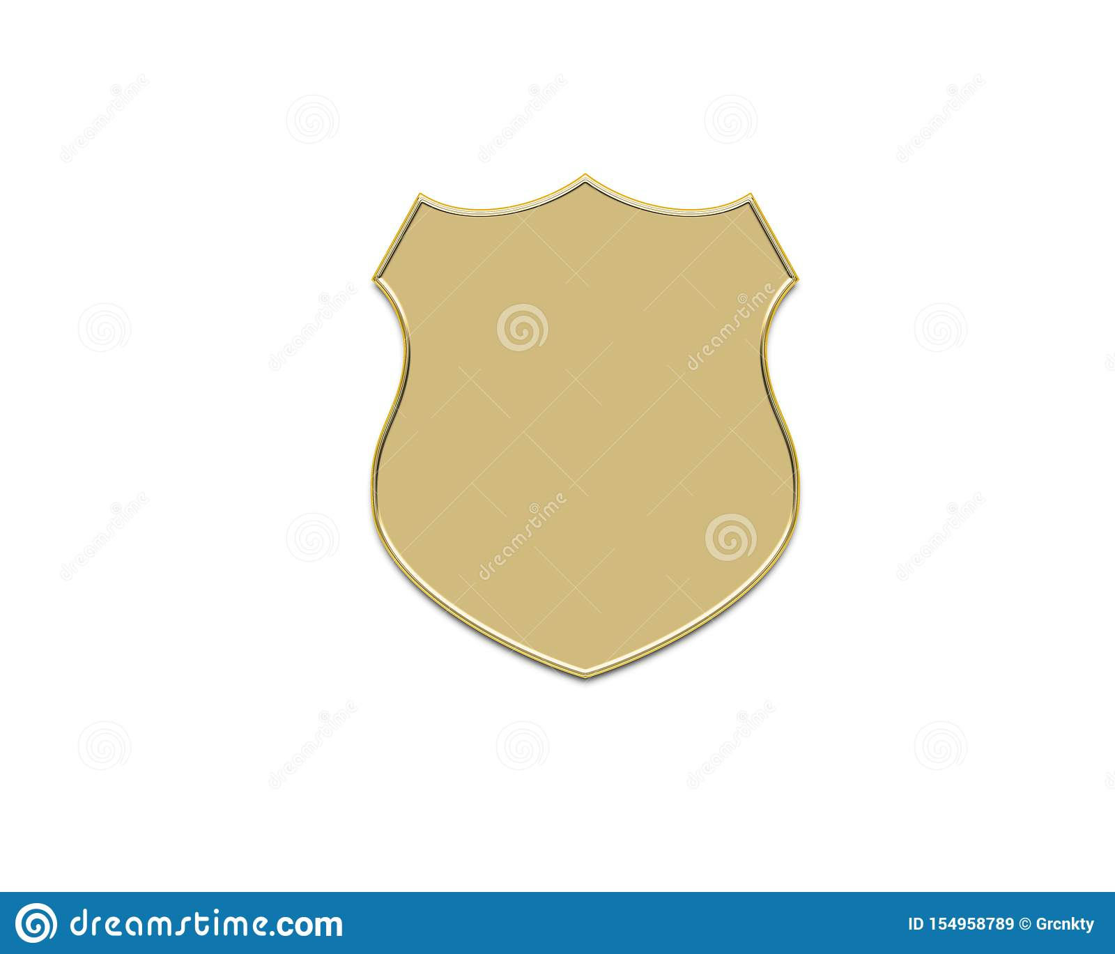 Gold shield shape icon