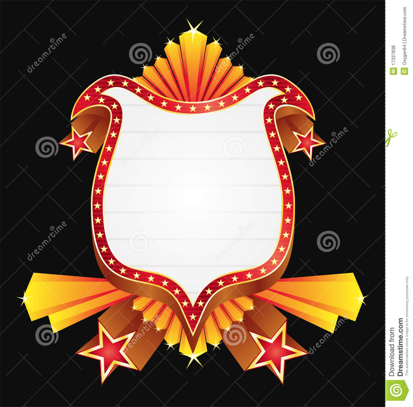 Shield With Stars Royalty Free Stock Photos Image 17337838