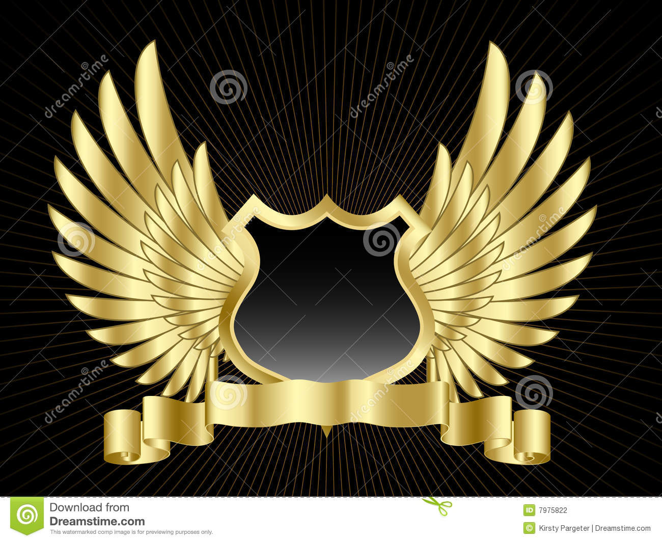 Shield design set royalty free stock photos image 5051988 -  Royalty Free Stock Photos Shield Design Set Shield With Wings Stock Photography
