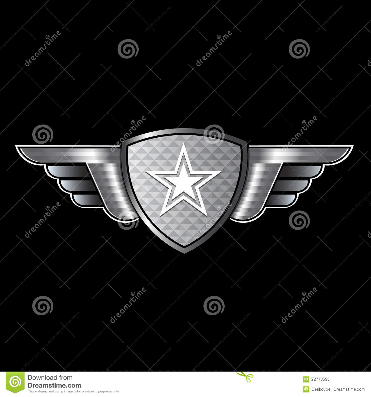 Shield with wings and star logo stock vector illustration of shield with wings and star logo biocorpaavc Choice Image