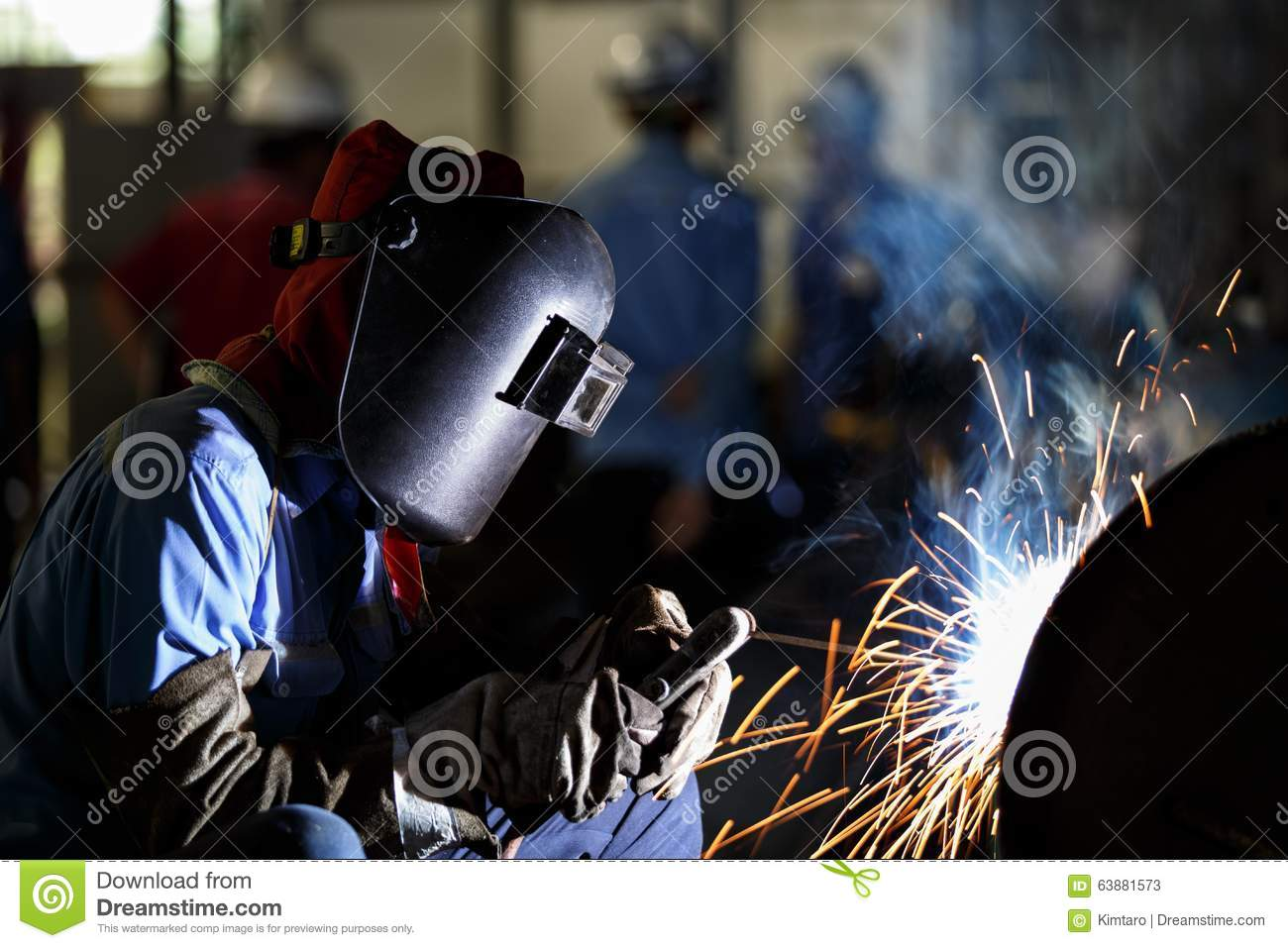 Shielded Metal Arc Welding Stock Image Image Of Production 63881573