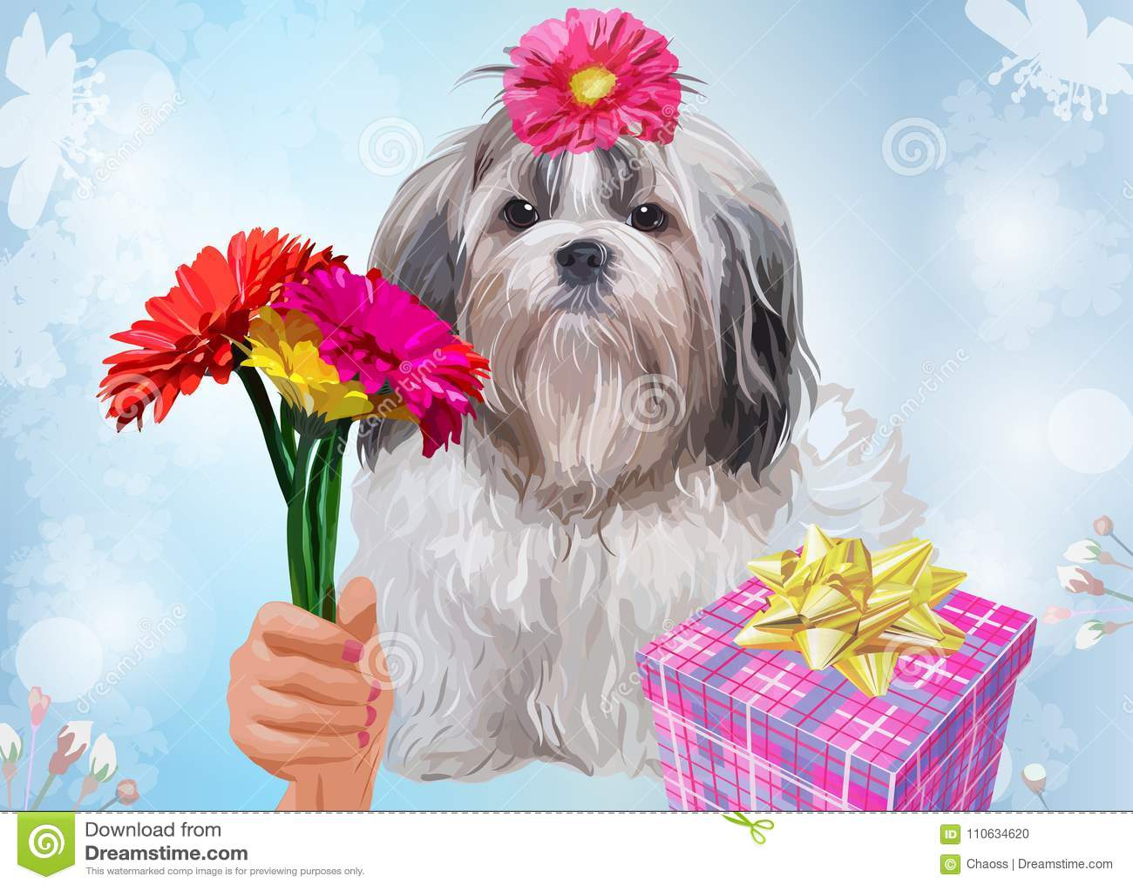 Shih tzu dog gift
