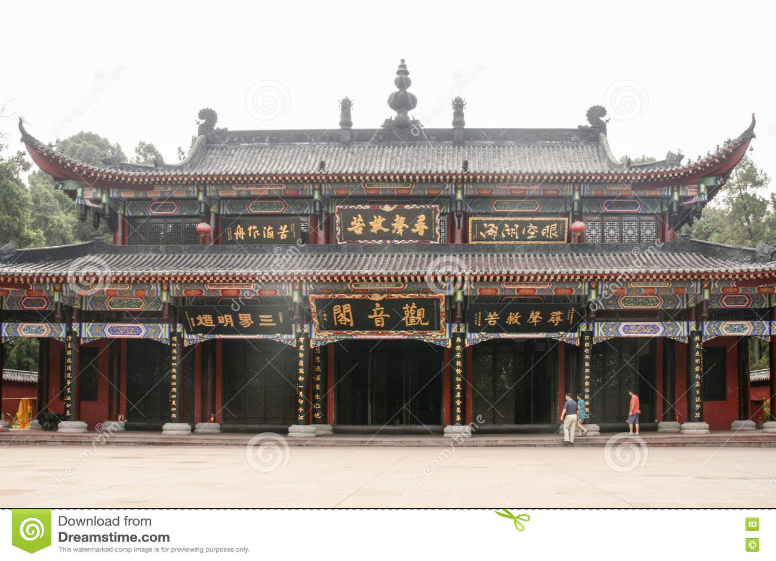 Shijingstempel in chengdu, China