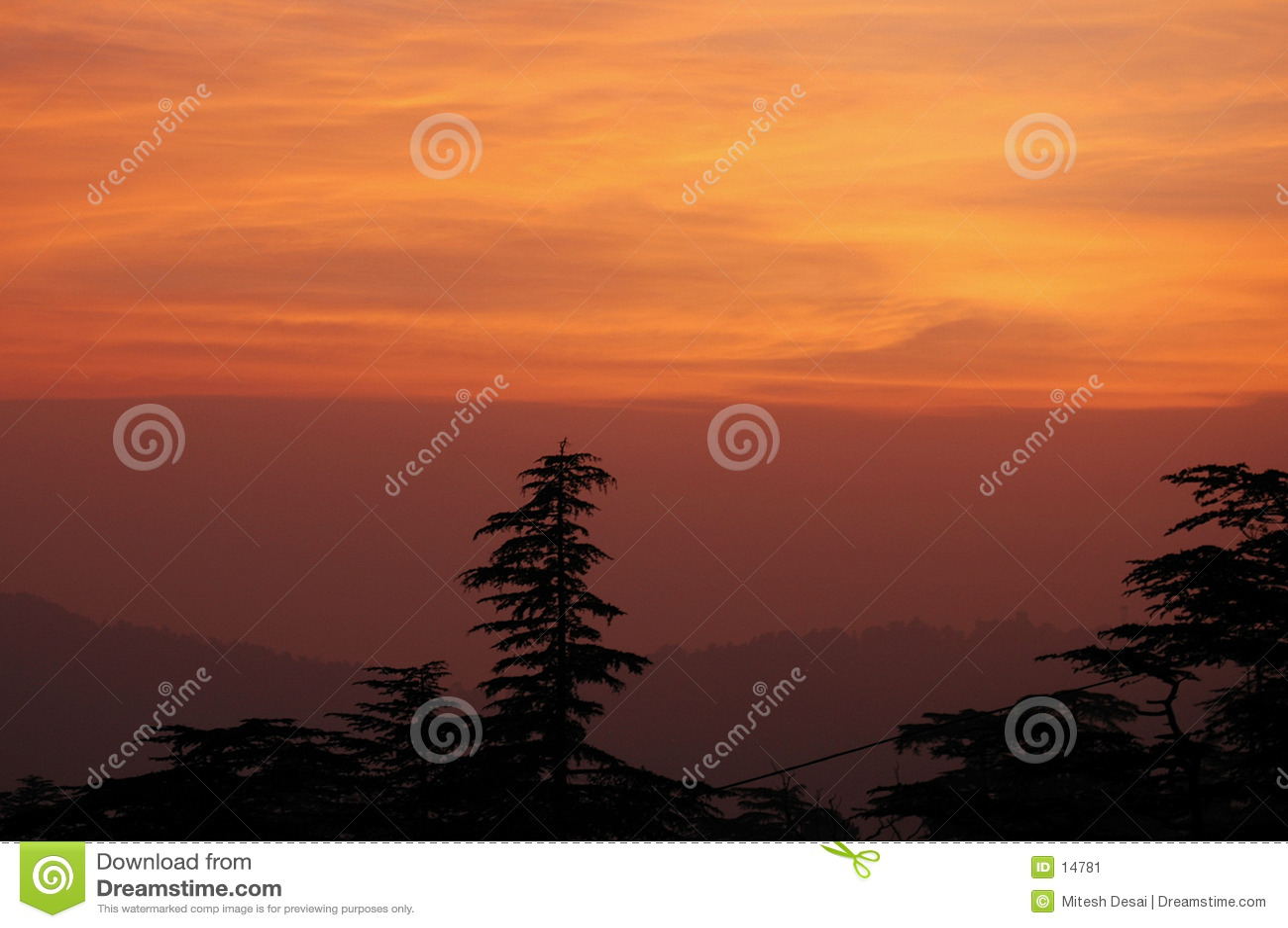 Shimla solnedgång