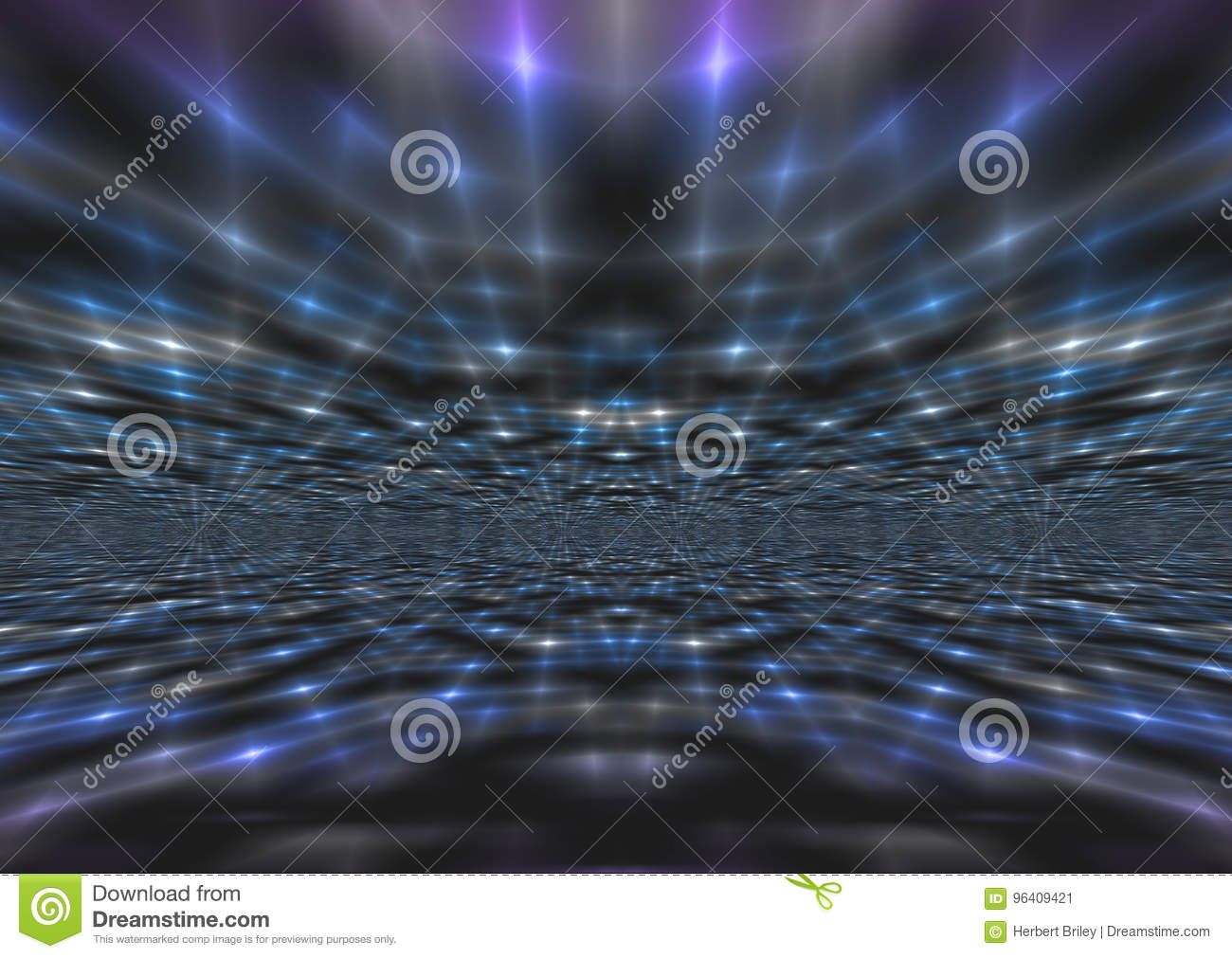 Shimmering Abstract Blue Light Rays Background