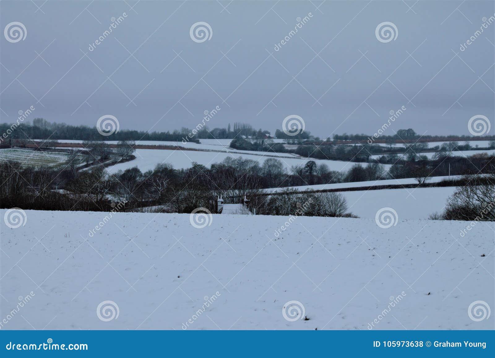 Shimpling Suffolk i snön