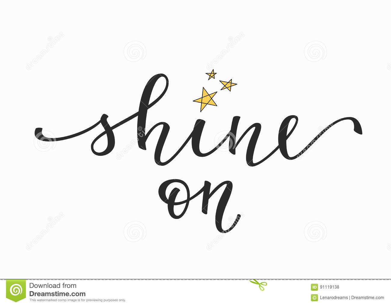 Shine on quote typography stock vector. Illustration of ...