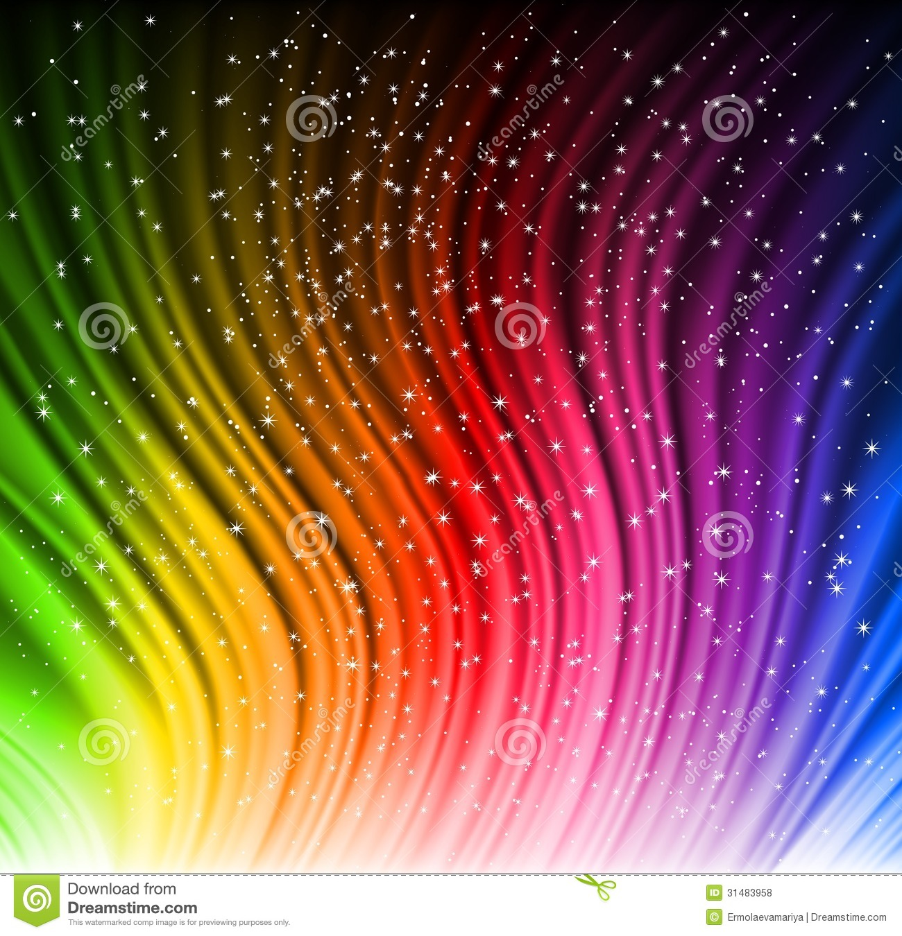 Star Light Star Bright >> Shine Rainbow Wave With Stars. Vector Stock Vector - Image: 31483958
