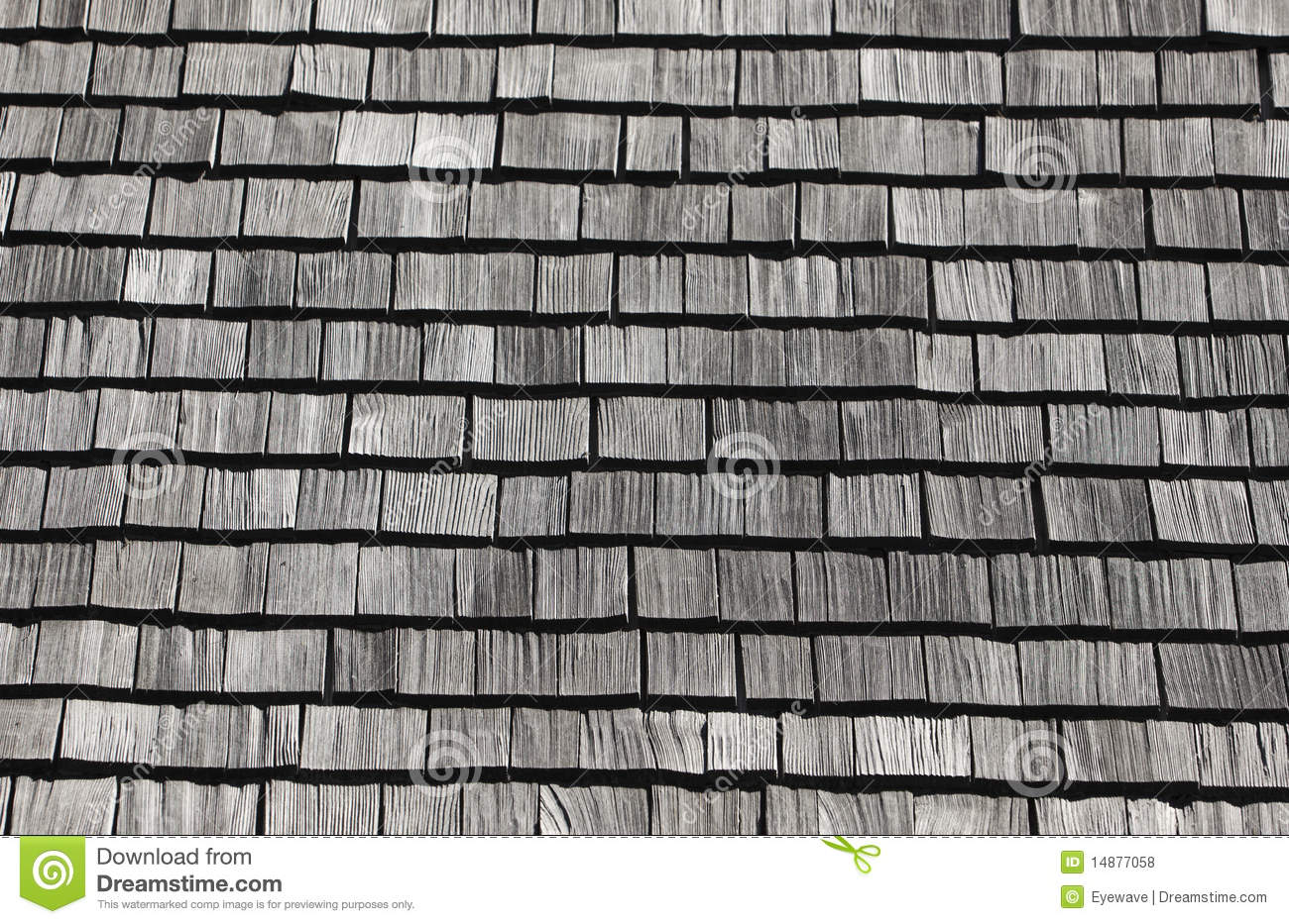 Shingle Roof Pattern Stock Photo Image Of Texture Gray