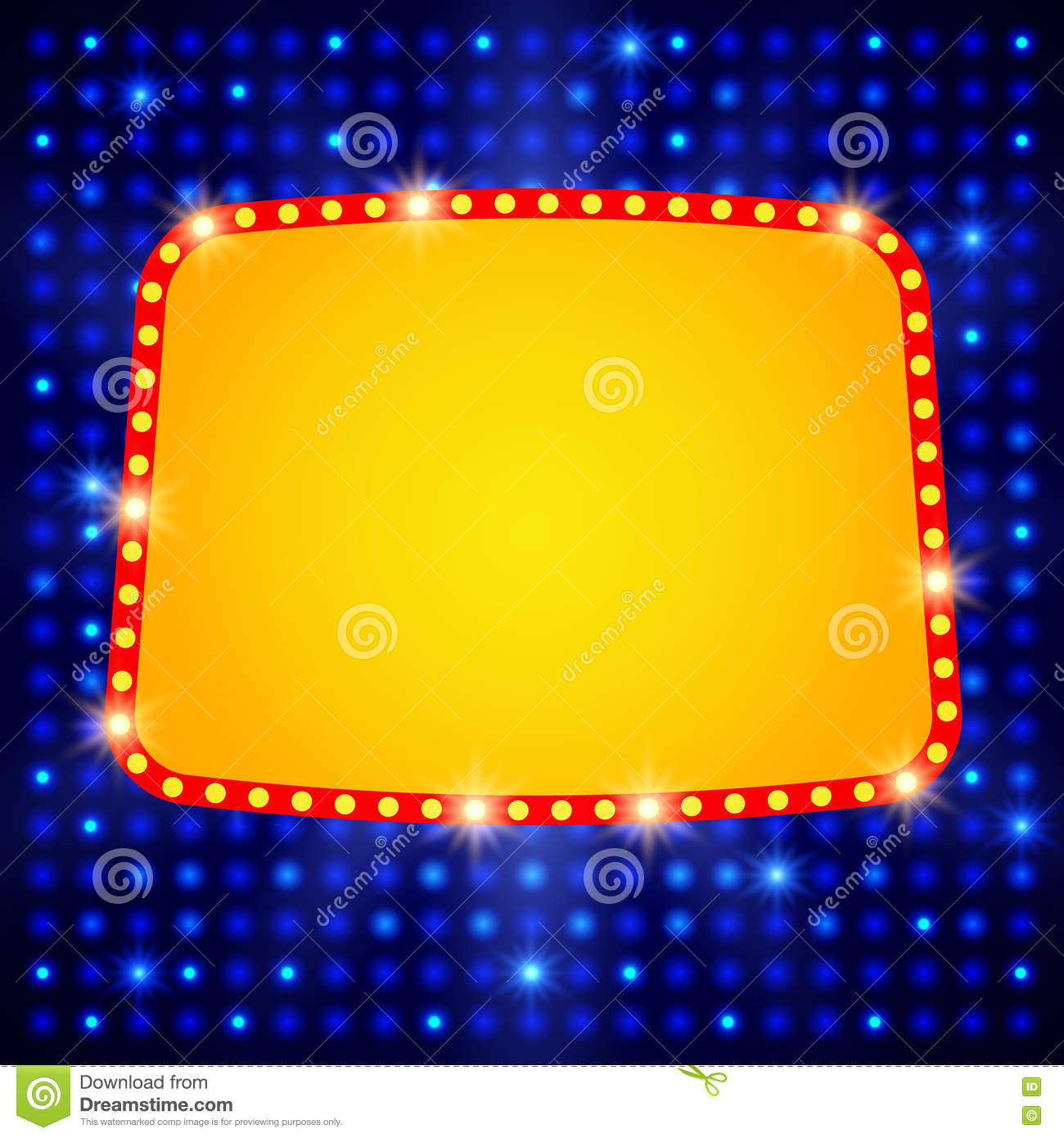 shining background with retro casino light banner marquee movie