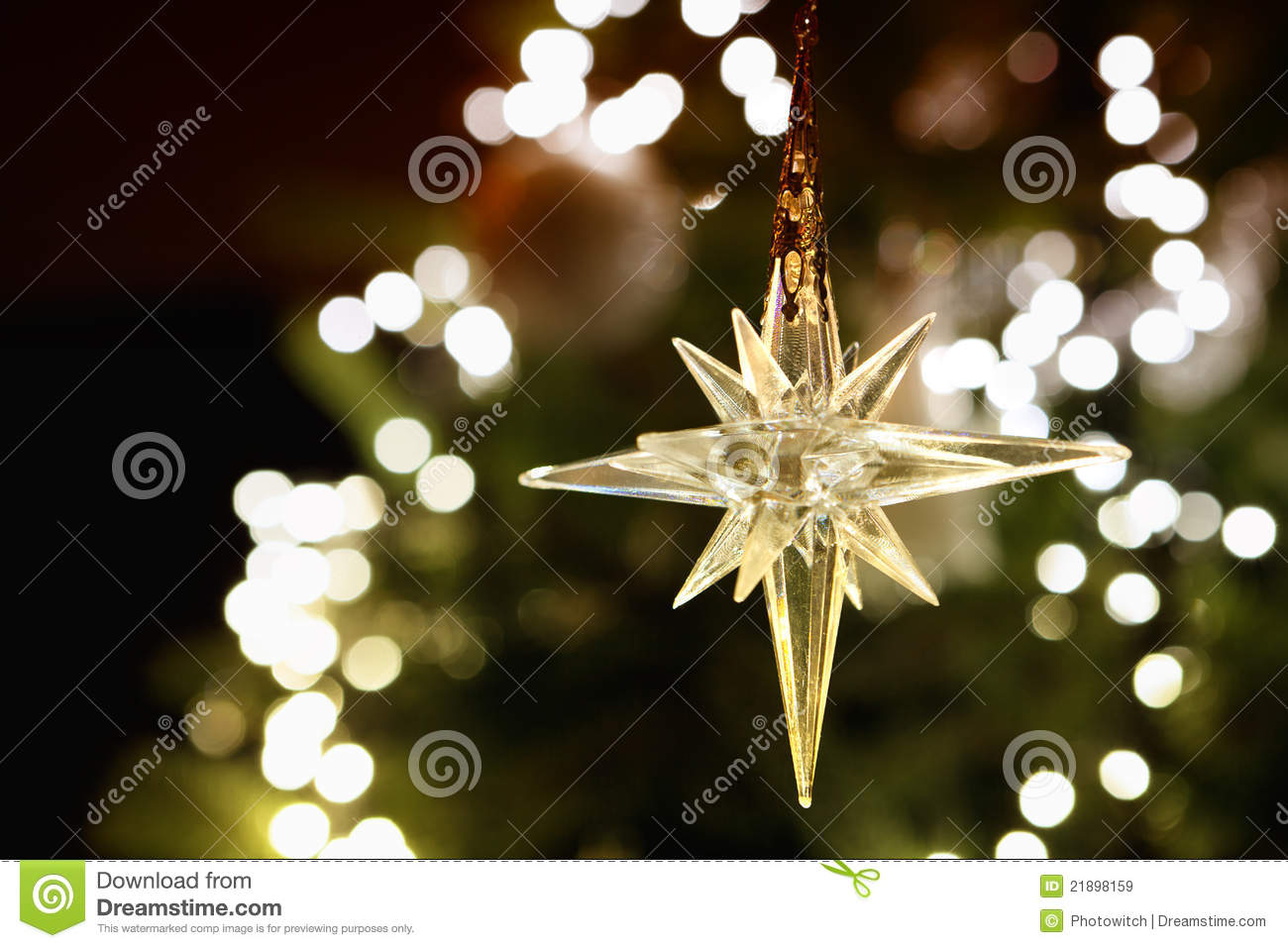 Shining Christmas Star Stock Image Image Of Colorful