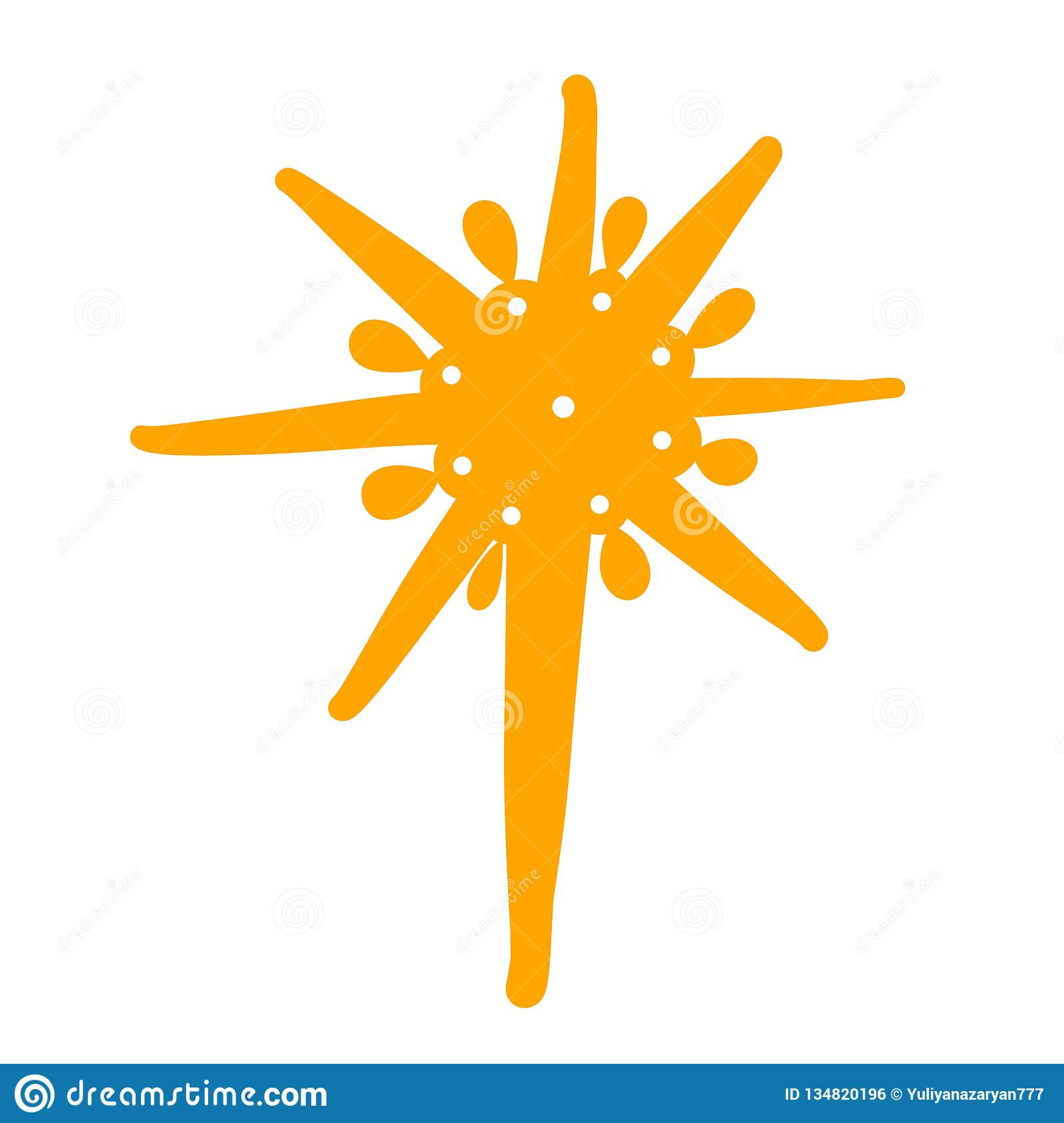 Christmas Star Silhouette.Shining Christmas Star Yellow Silhouette Tidings Of The