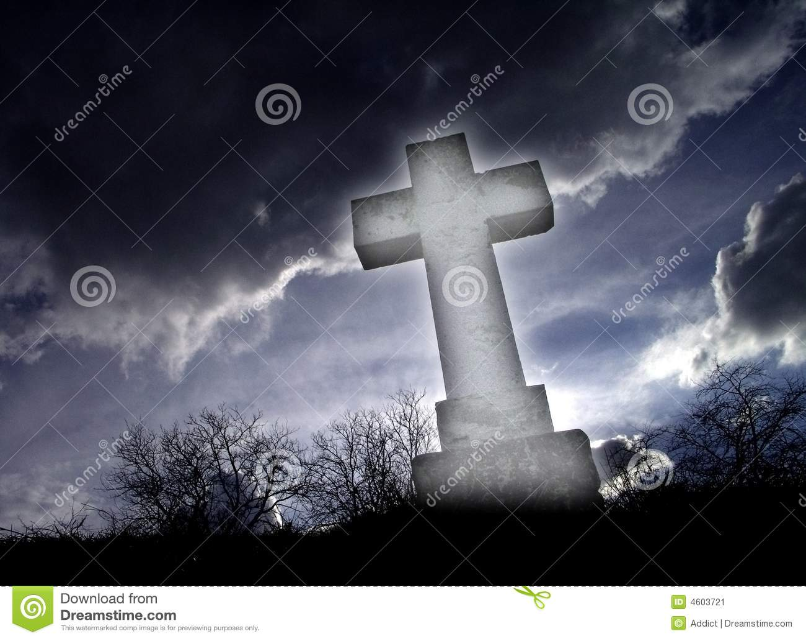 shining cross stock image