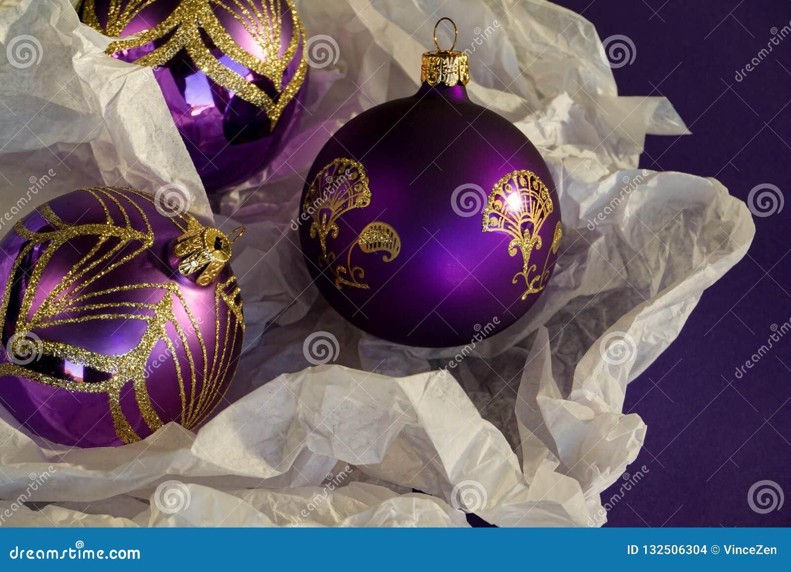 Shining Elegant Decorations For Xmas New Year Season Stock