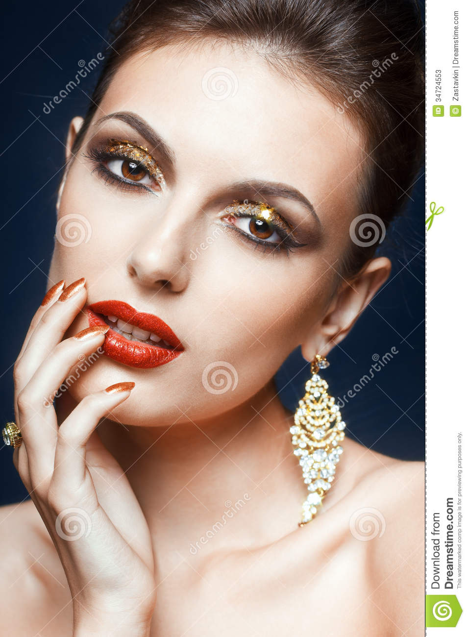 Shining Face Makeup Stock Image Image Of Face Jewellery