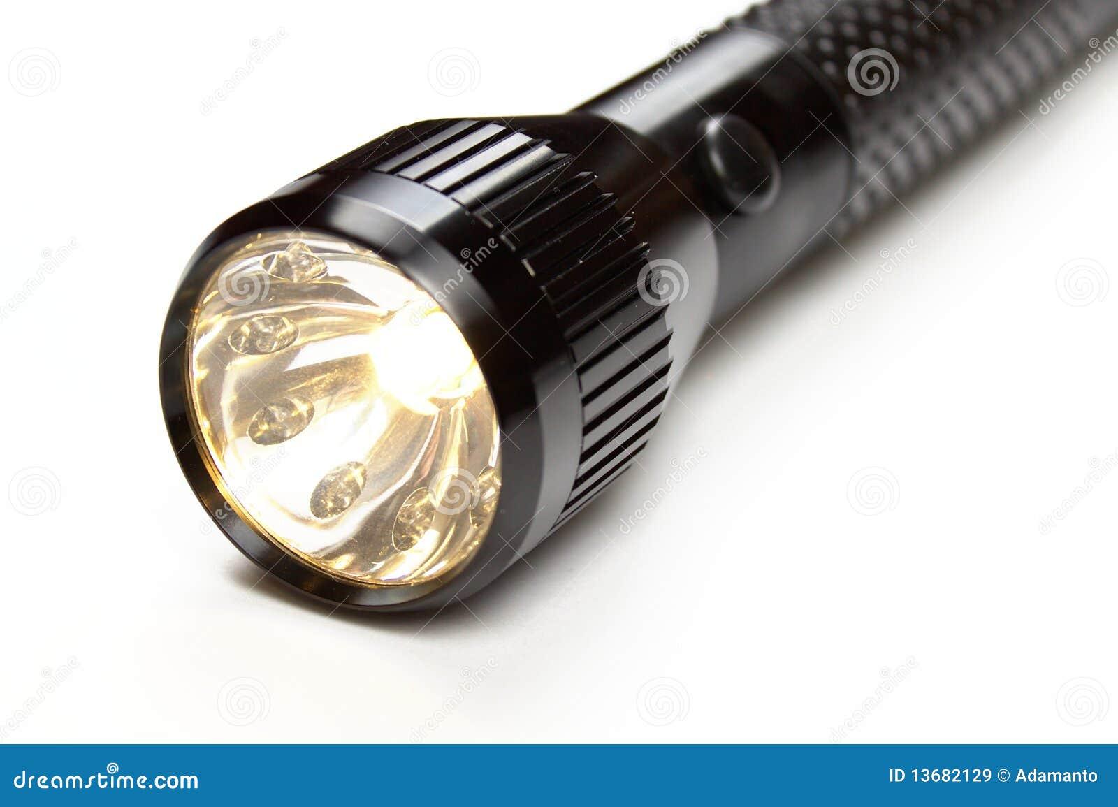 Shining Flashlight Stock Image Image Of Power Bright
