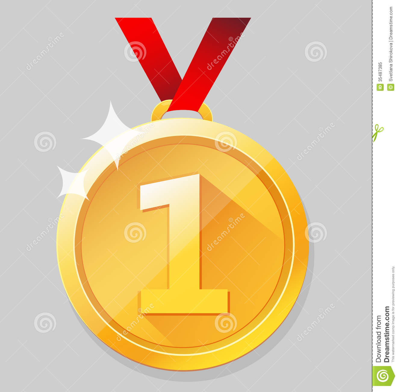 Shining Gold Medal Royalty Free Stock Photo  Image: 35487385