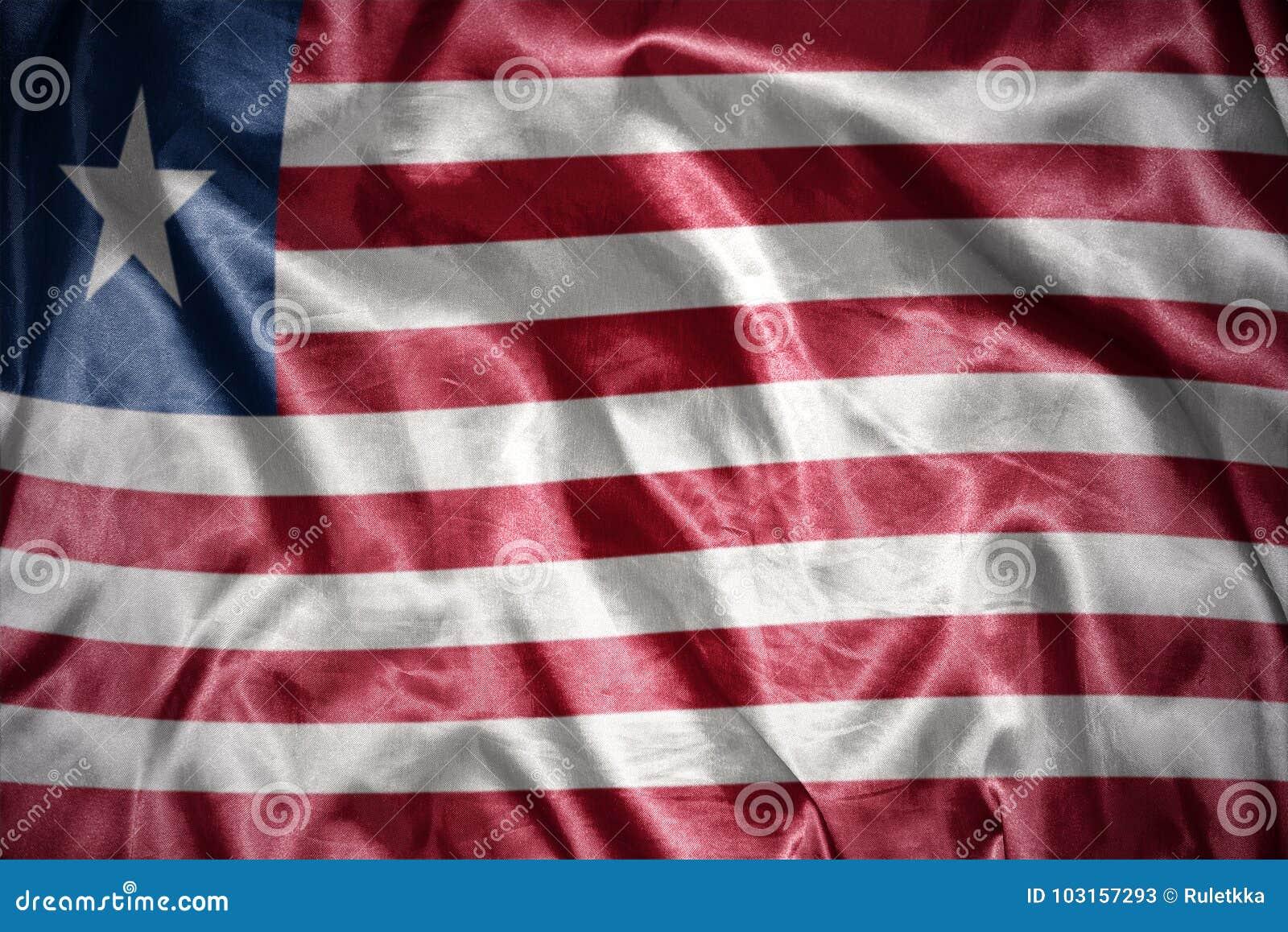 Shining liberian flag stock illustration  Illustration of