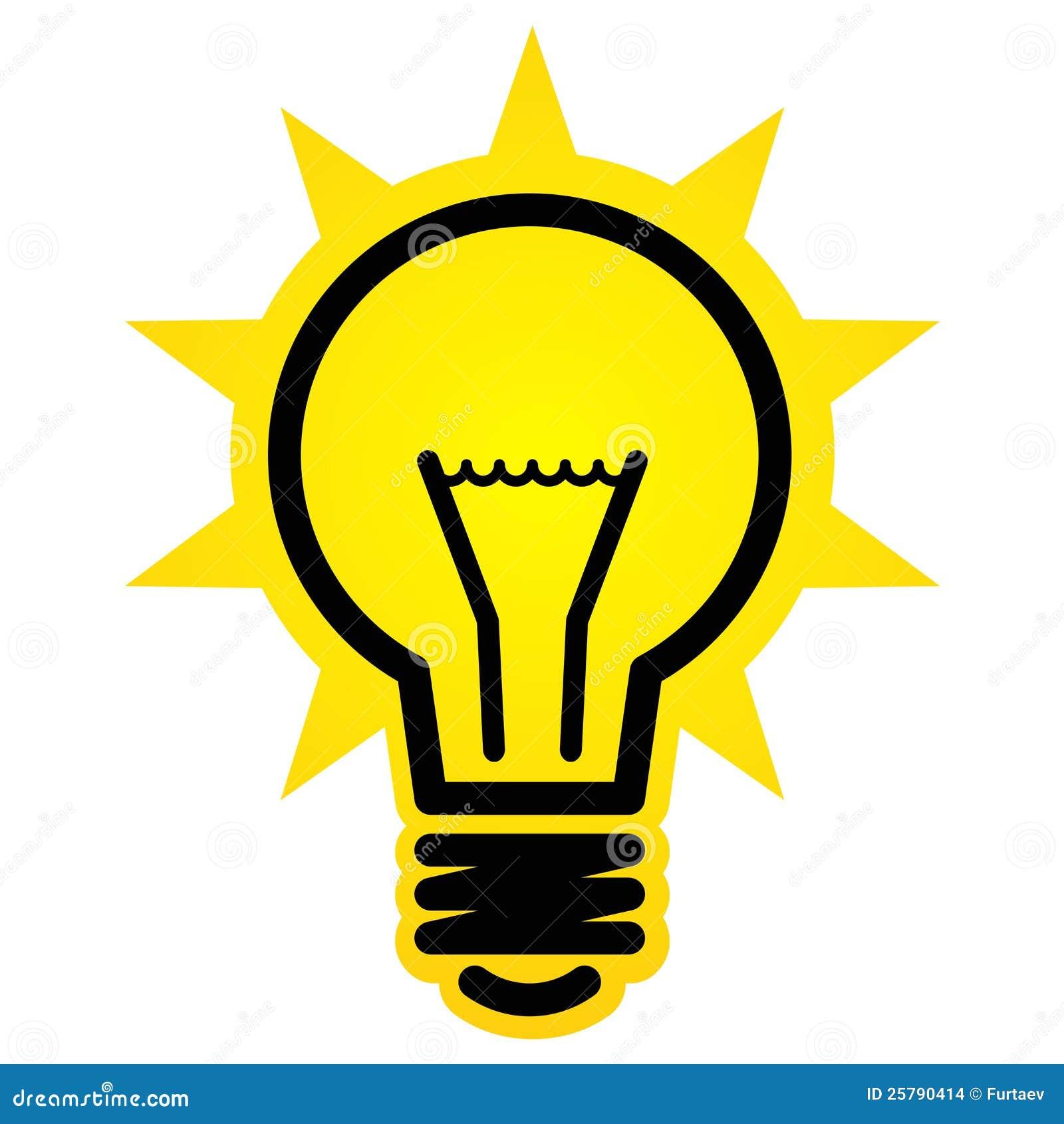 Shining Light Bulb Icon Stock Images Image 25790414