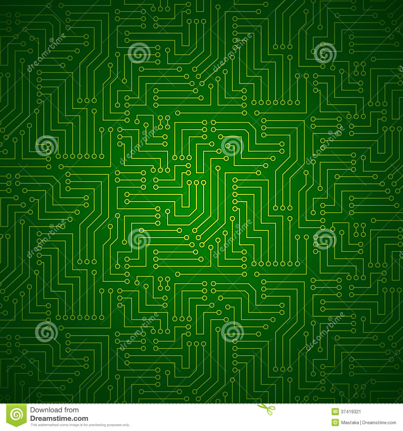 Images Of Yellow Printed Circuit Boards Spacehero Fiberglass Board Shining Royalty Free Stock Photo