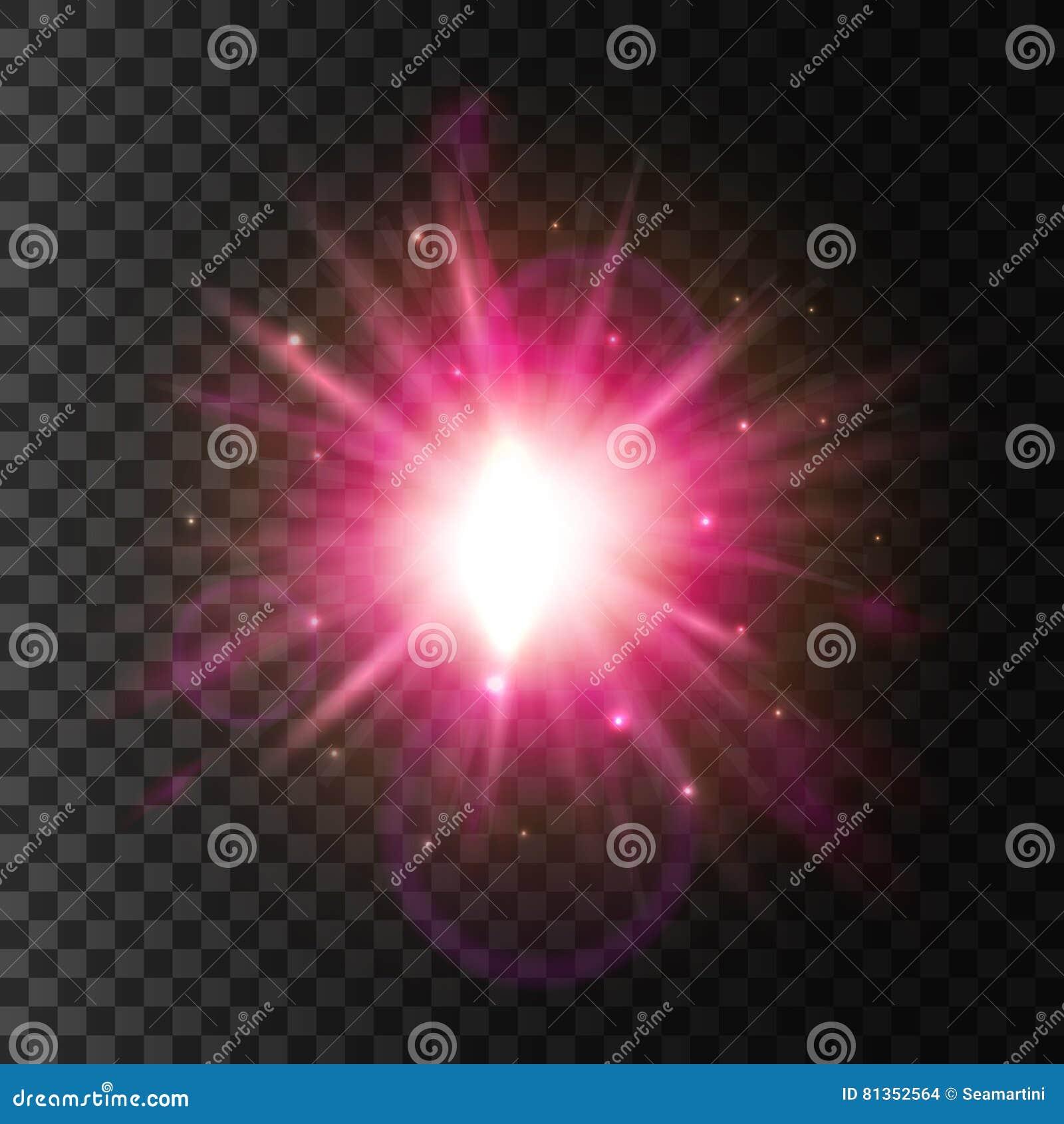 Shining star light. Lens flare sparkling effect