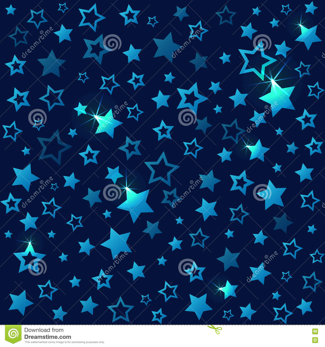 picture about Printable Gift Wrapper known as Shining Famous people Seamless Practice. Dim Starry Sky Inventory Vector
