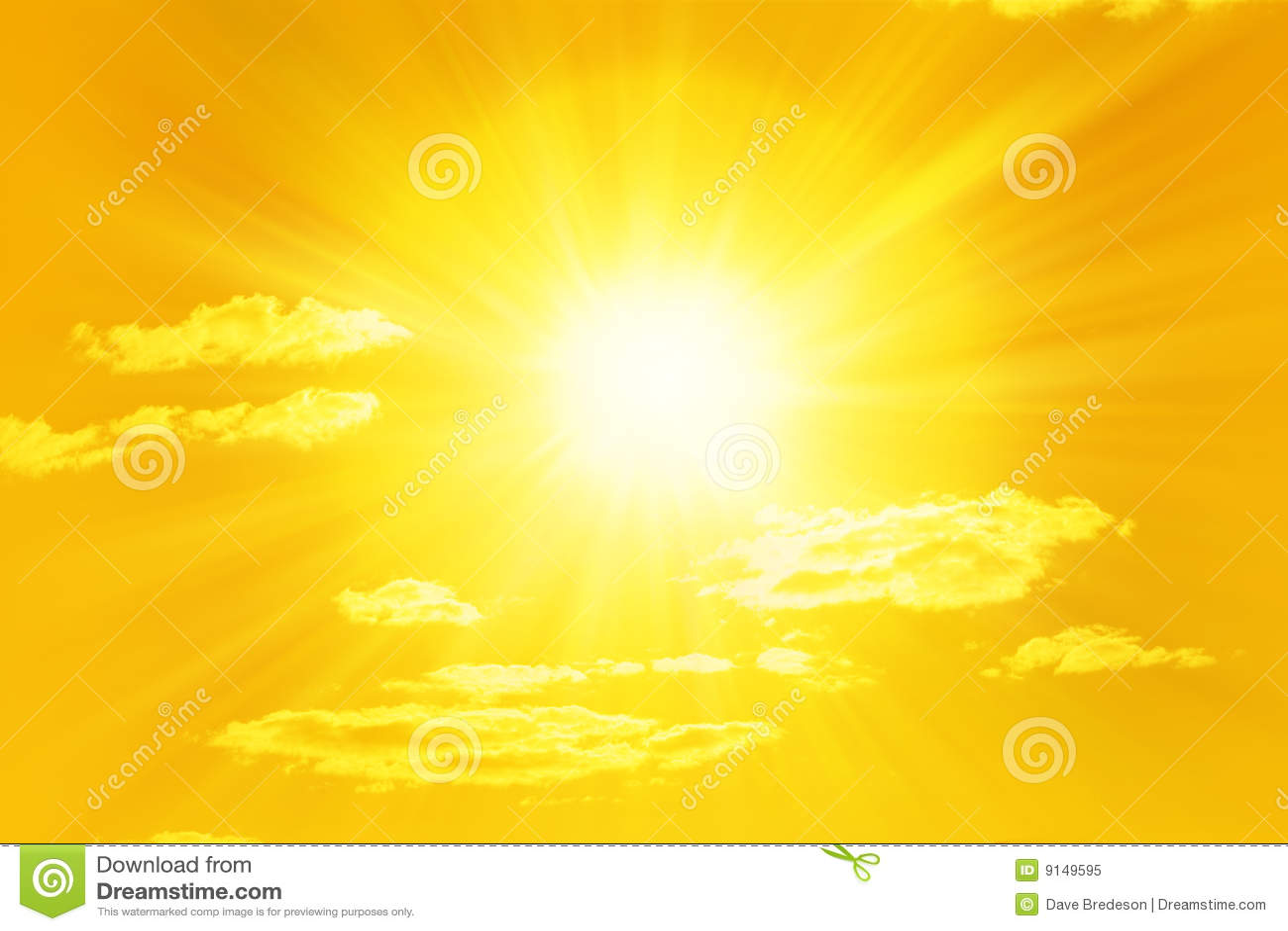 Shining Yellow Sun Sky