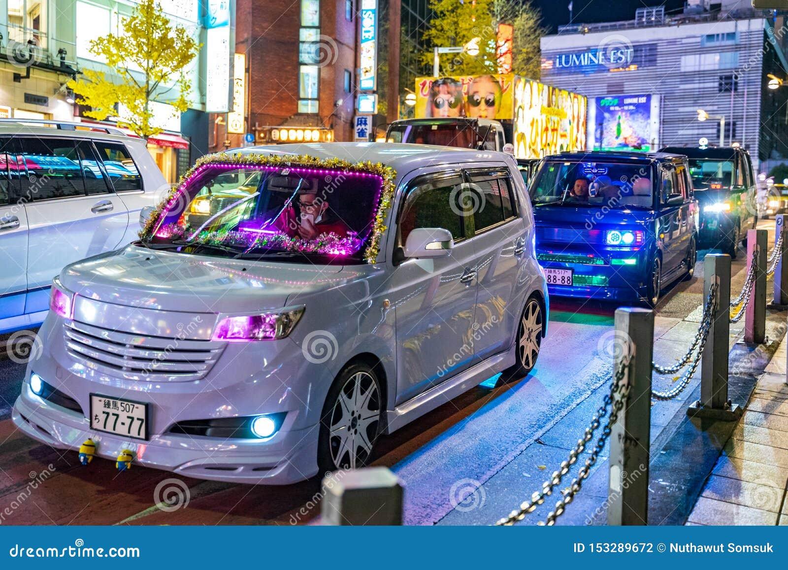 Shinjuku, Tokyo, Japan - December 24, 2018: Cute Cars With ...