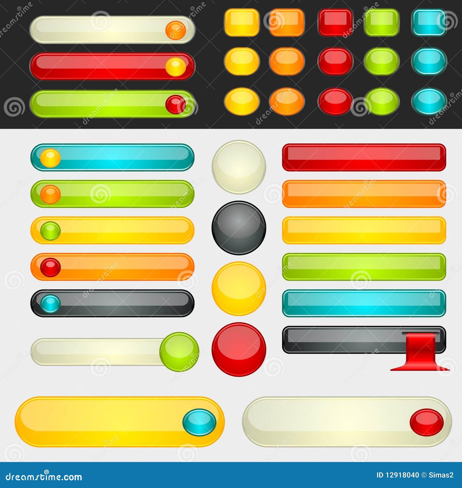 Shinny teclas coloridas do Web