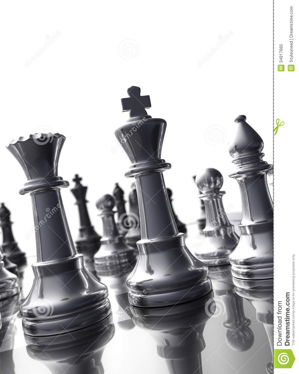 Shiny Black King And Queen Chess Pieces Stock Photo 34917665 Megapixl