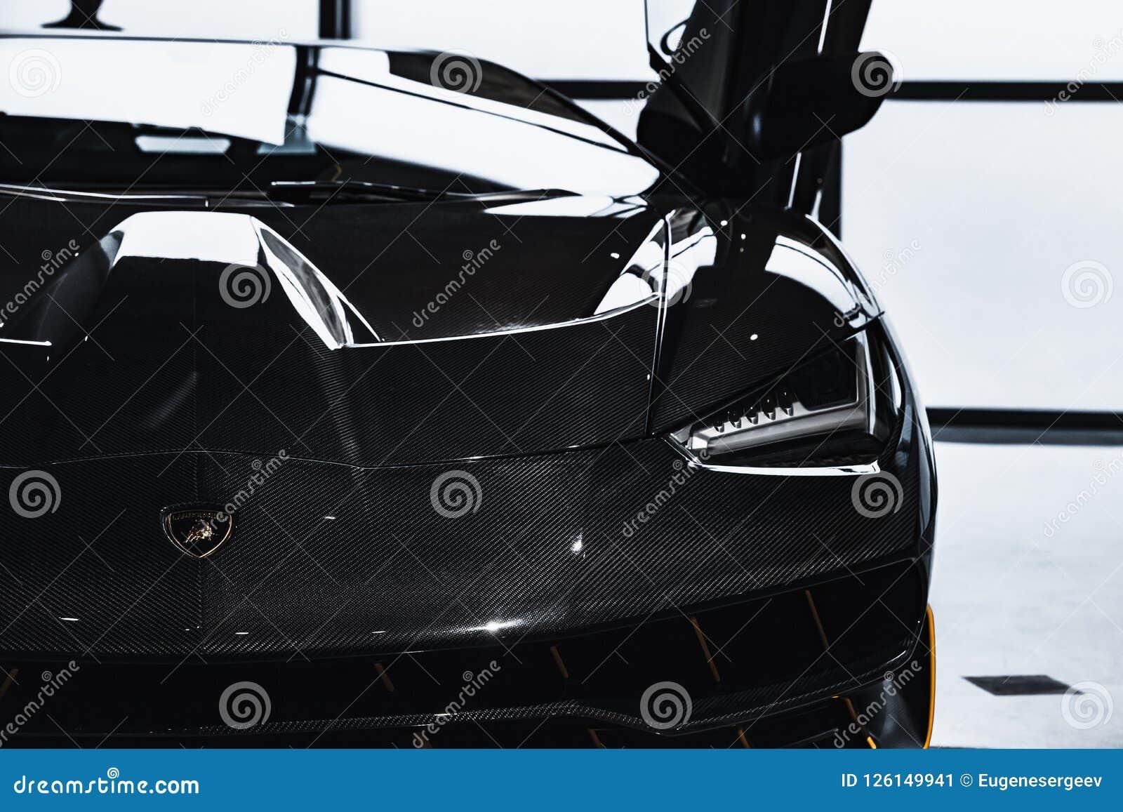 Shiny Black Lamborghini Centenario Car Editorial Photo Image Of