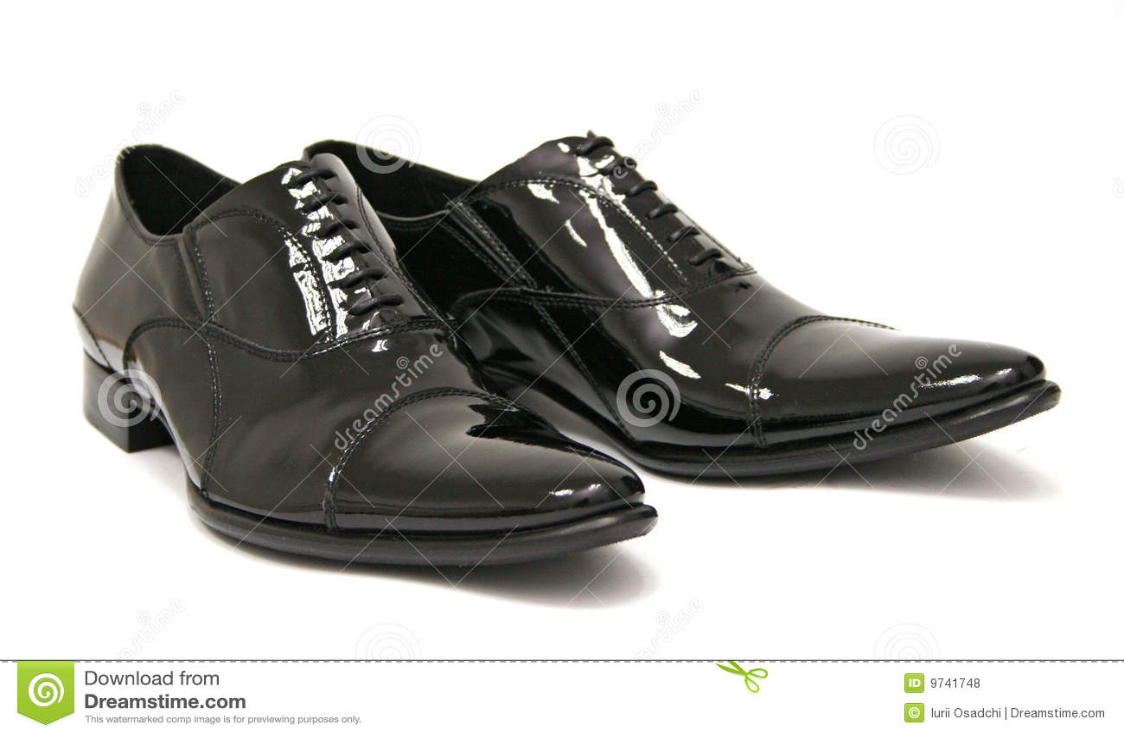 Shiny Black Men Shoes Royalty Free Stock Photos - Image: 9741748