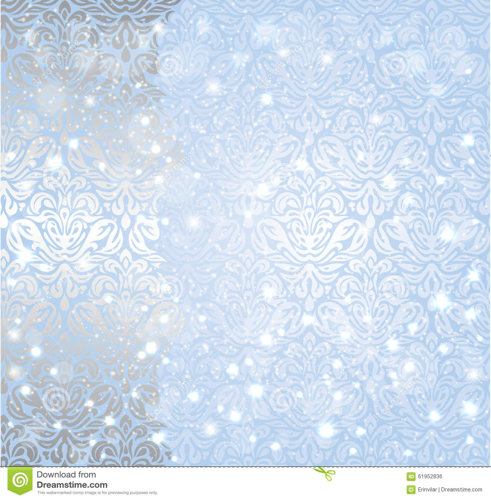 shiny blue christmas winter snowflake vintage background