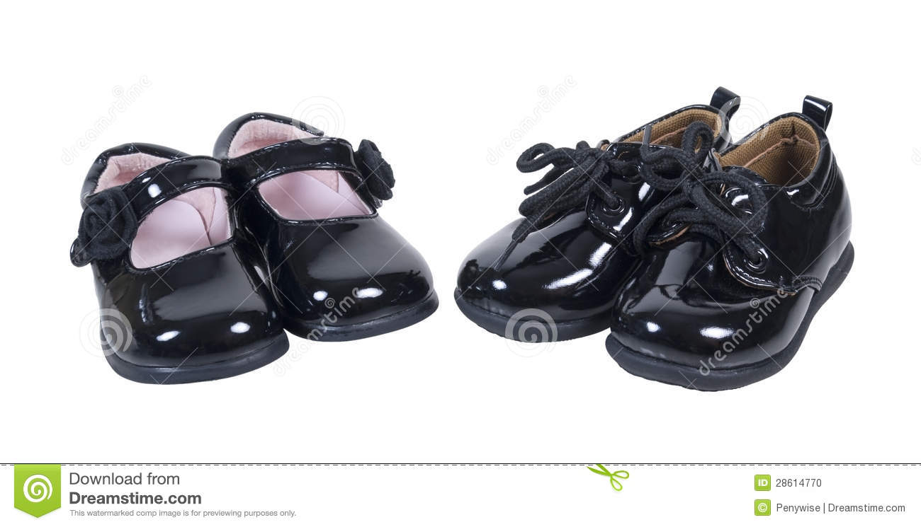 shiny formal baby shoes for boys and stock photo