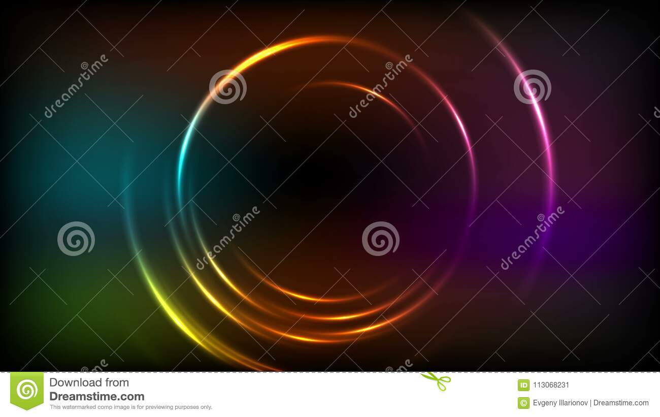 rings neon dark art black abstract blue cyan wallpaper circles