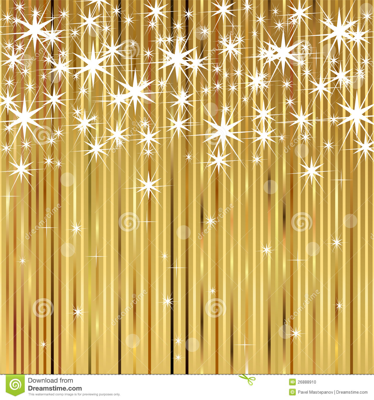 Shiny Gold Background Stock Photo